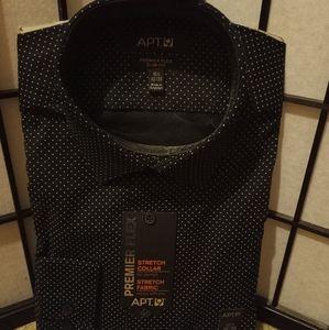 Men's long sleeve dress shirt.